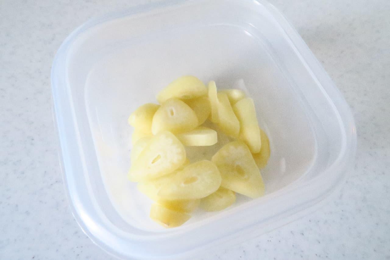 冷凍ニンニクで簡単!ニンニク醤油のレシピ