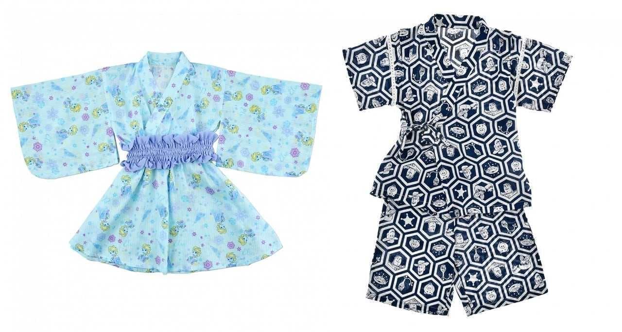 ショップディズニーの&エルサデザインの浴衣と「トイ・ストーリー4」デザインの甚平