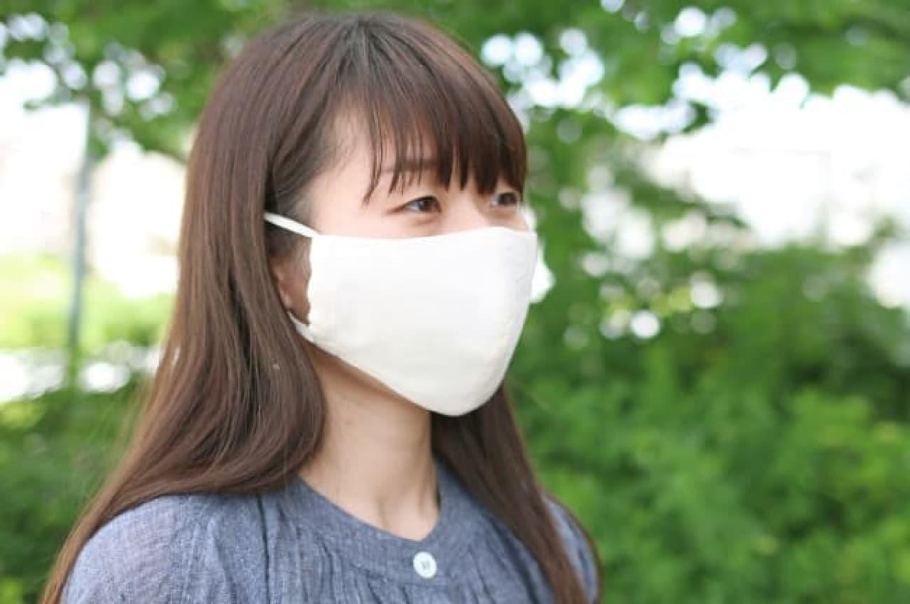 中川政七商店の夏用マスク「天然素材のさらさら肌ケアマスク」