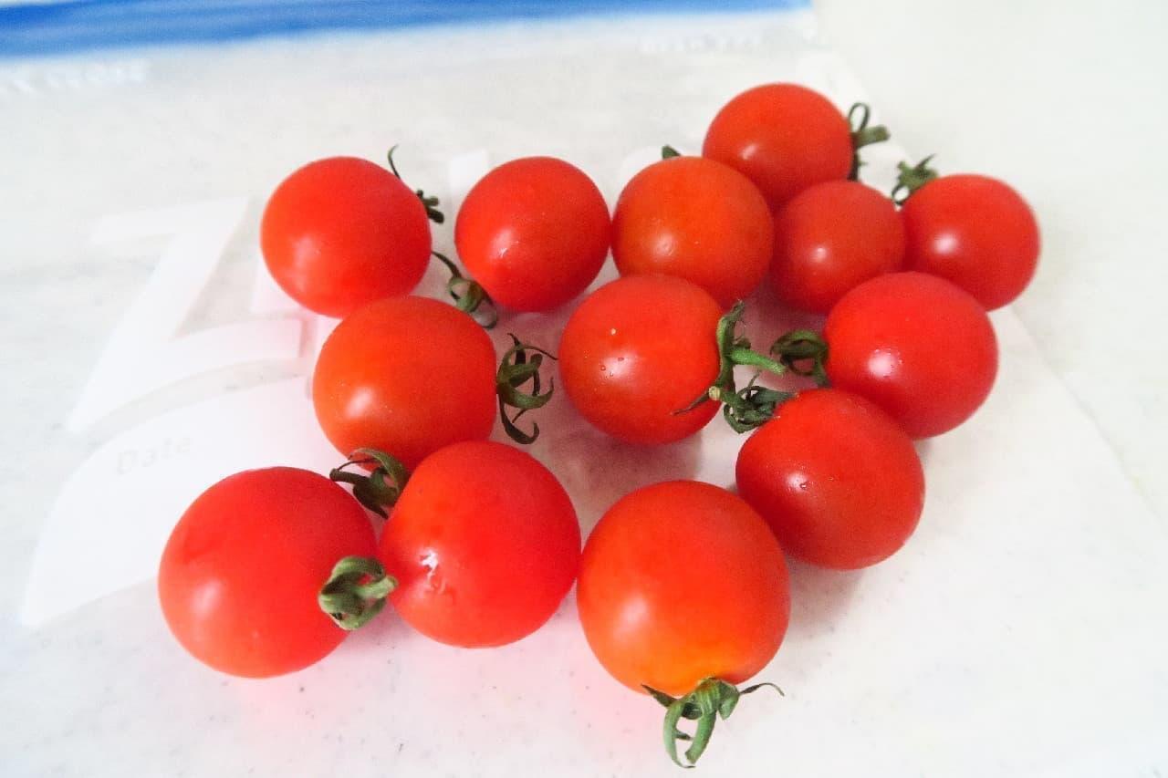 ミニトマトの冷凍保存法