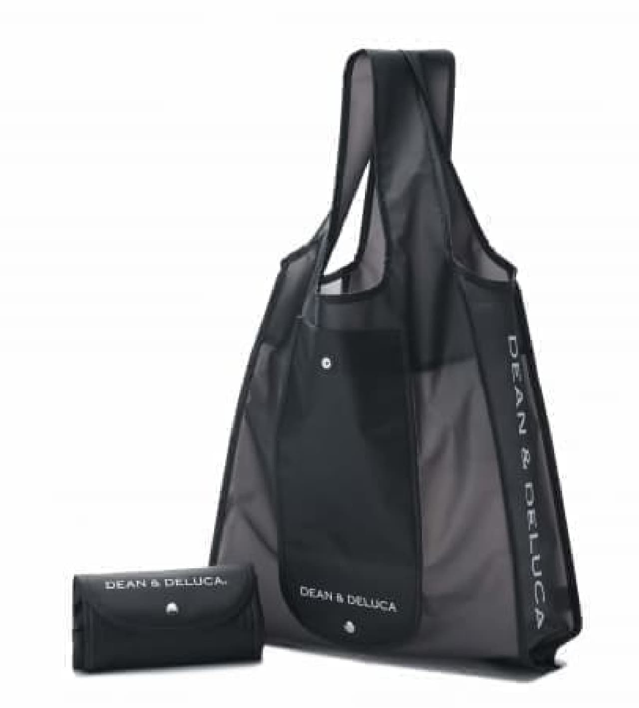 DEAN & DELUCA(ディーン&デルーカ)のミニマムエコバッグとショッピングバッグ クリアブラック