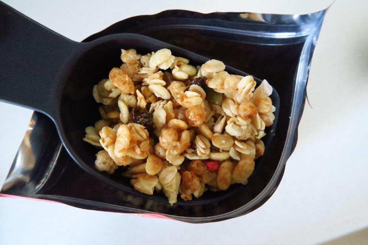 100均「シリアルスプーン」が便利 -- 1食分50gを簡単に計量