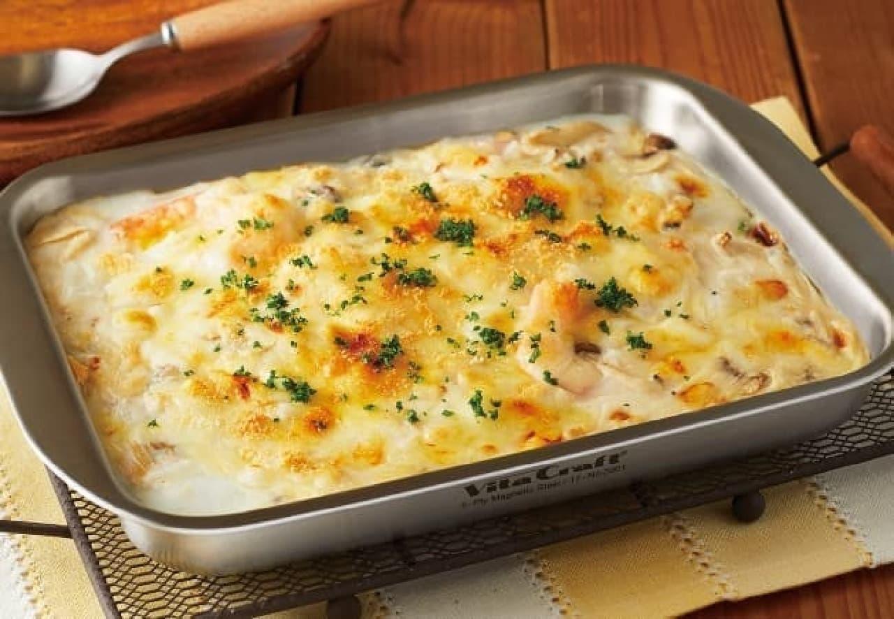 魚焼きグリルで料理できる「ビタクラフト グリルイングリル」 -- グラタンやスパニッシュオムレツなどに