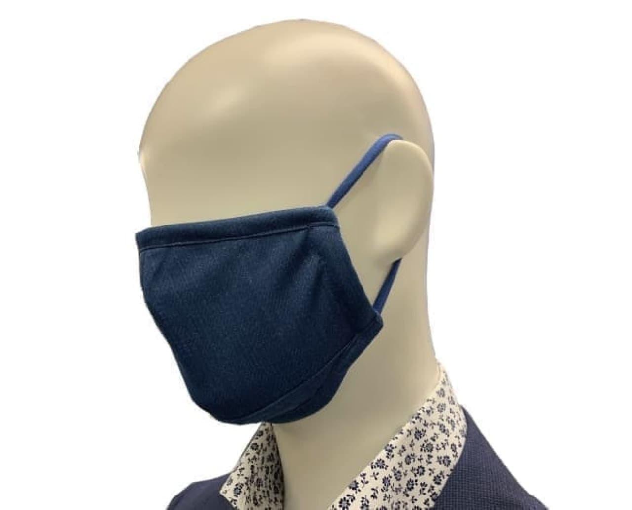 「デニム調プリント布マスク」がはるやまから