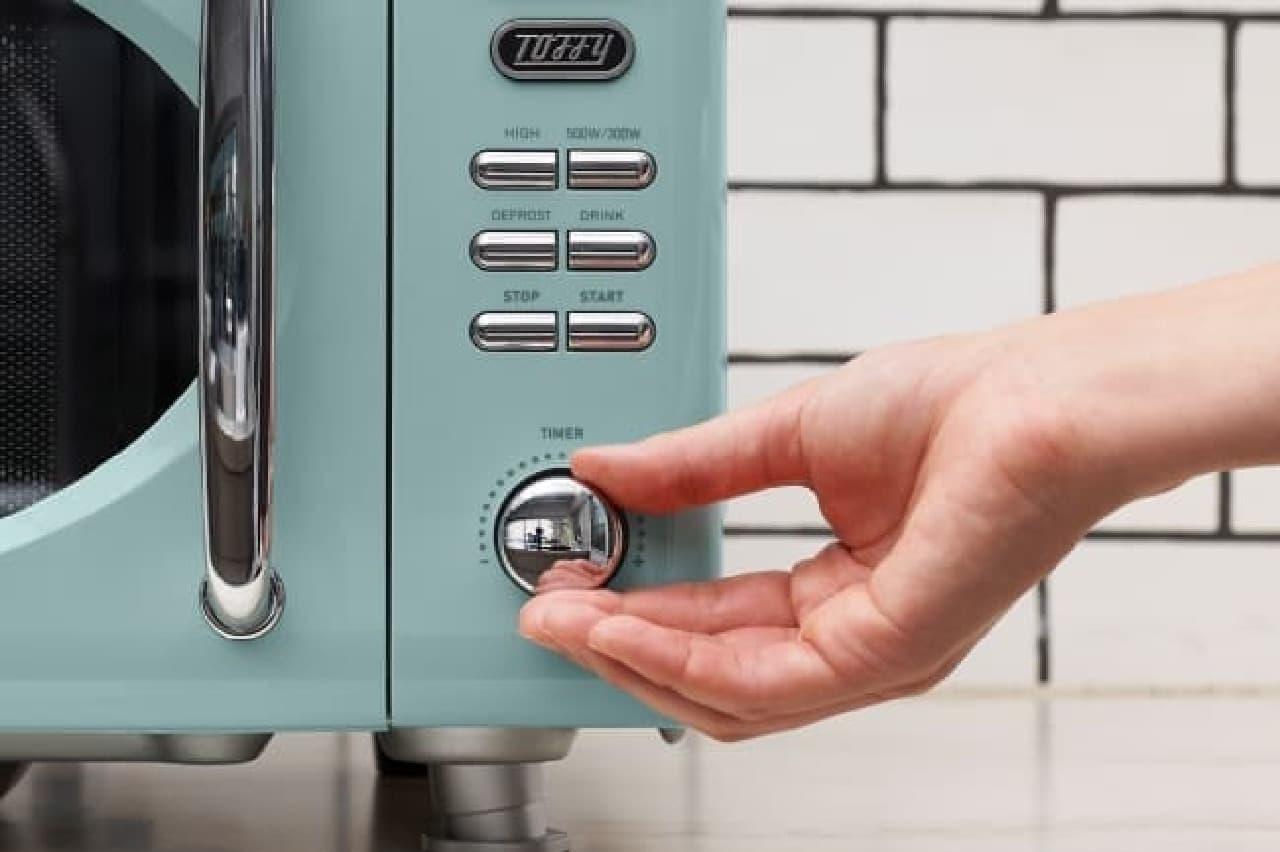 可愛い&レトロな「Toffy 電子レンジ」 -- 煮込みや蒸し料理もできるコンパクトサイズ