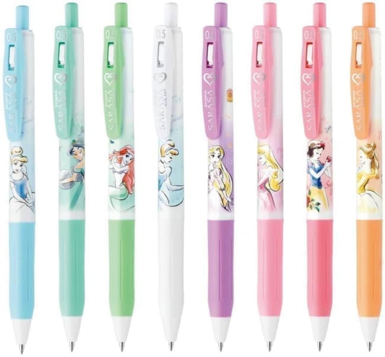 白雪姫たちを彩った「サラサクリップ/ディズニープリンセス」 -- インク色は人気のミルクカラー