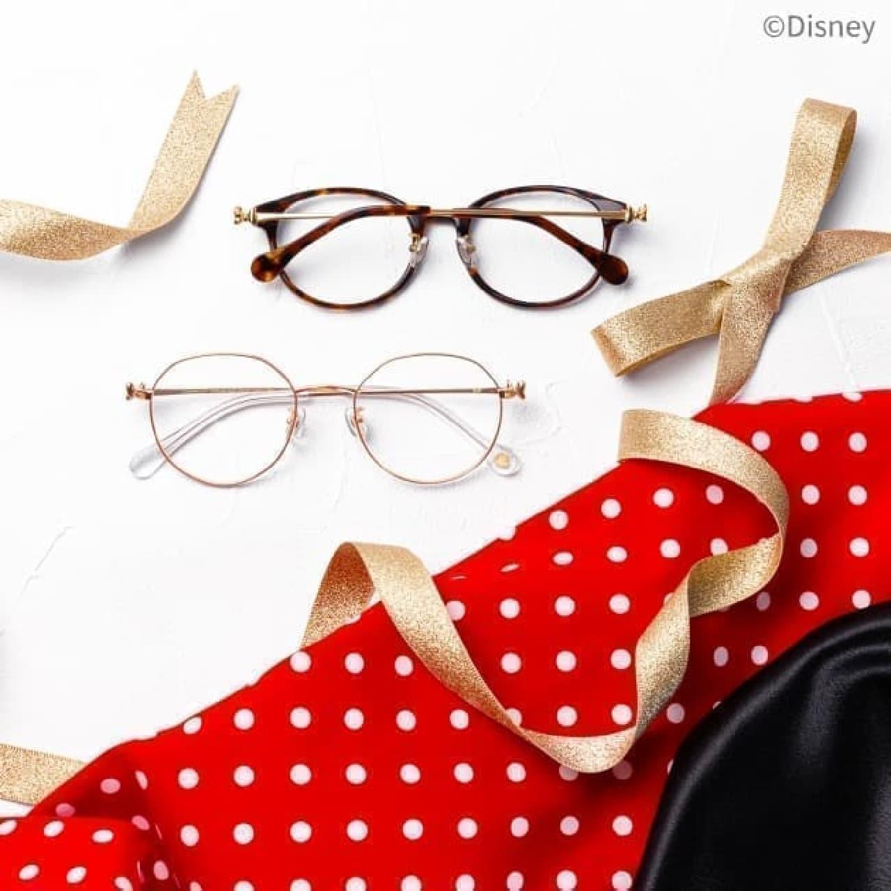 メガネブランドZoffから「ミニーリボンシリーズ」 -- リボンがきらりと輝く大人可愛いメガネ