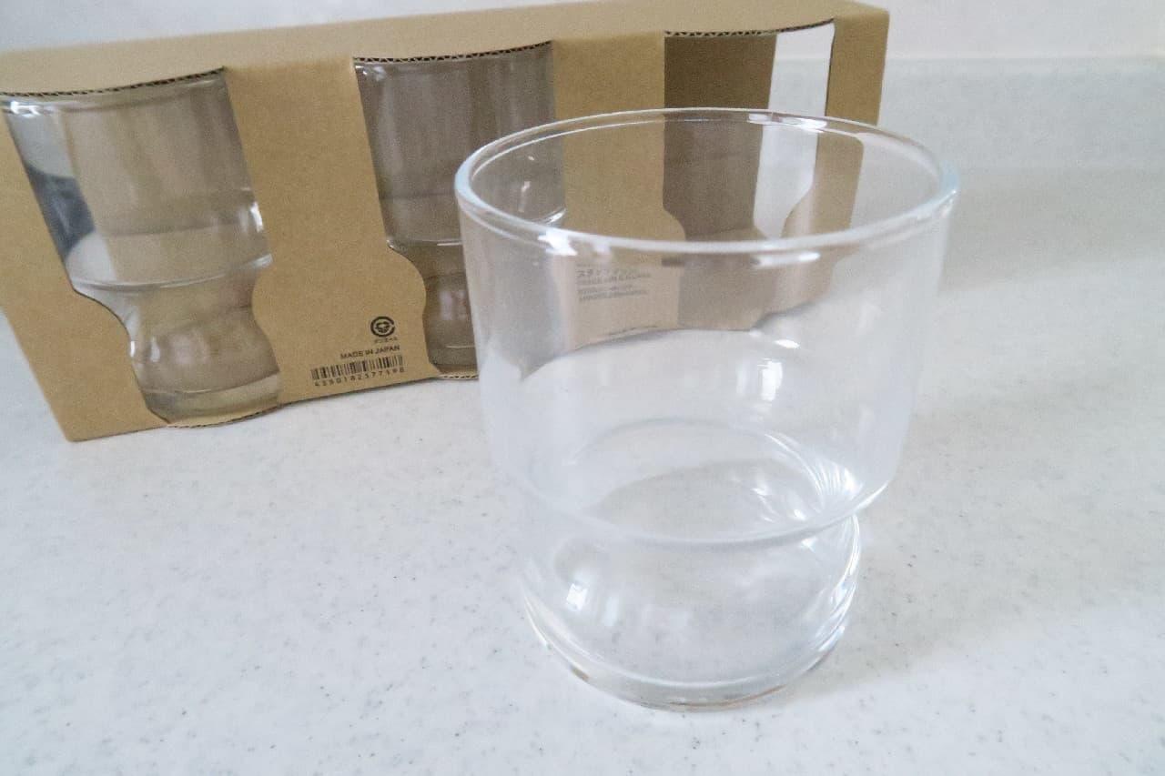 無印良品のガラス食器「ソーダガラス スタックグラス」
