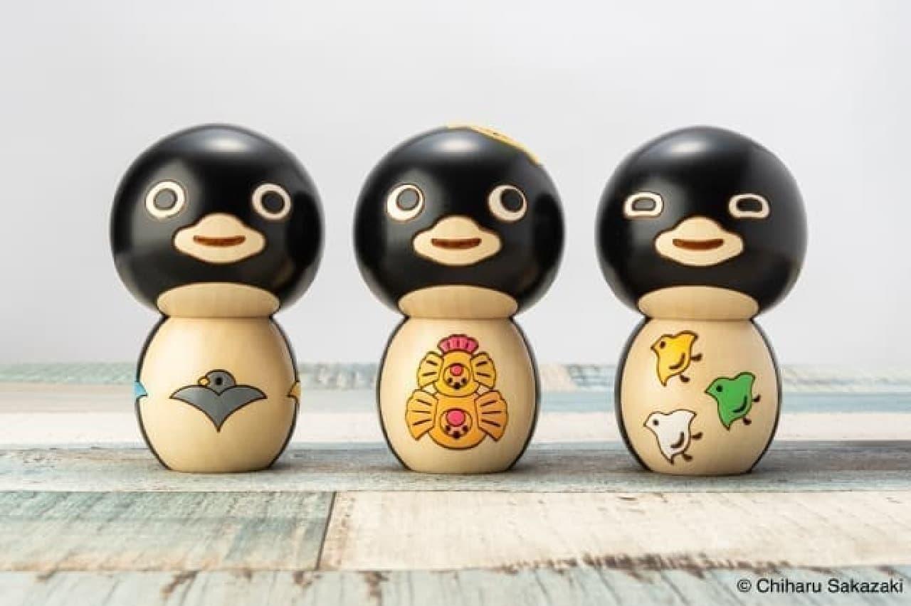 坂崎千春さんのペンギンがこけしになった! -- 温かみある風合いの手作り