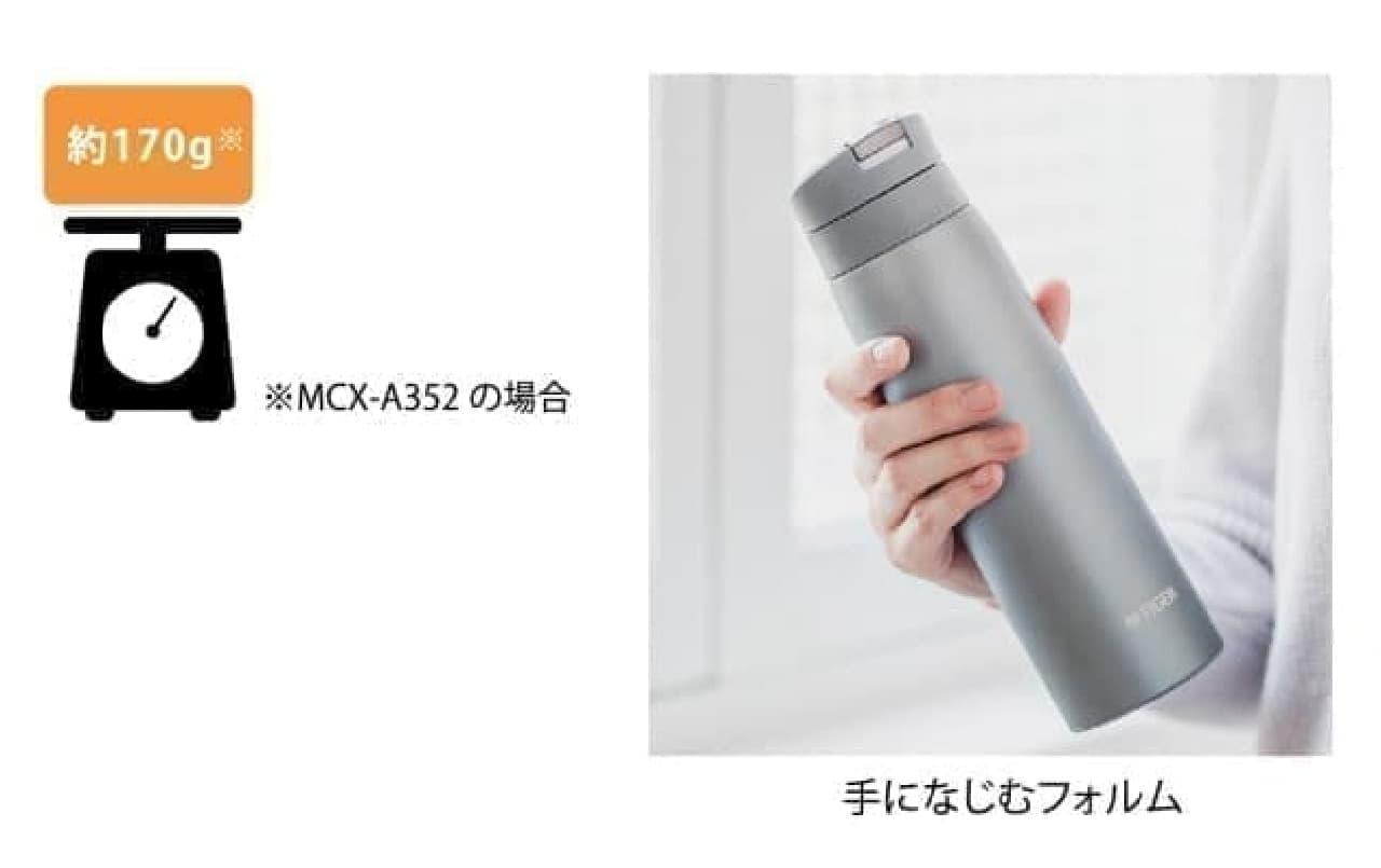 上品なアースカラーのミニボトルがタイガー魔法瓶から -- 開け閉め便利&汚れがつきにくい