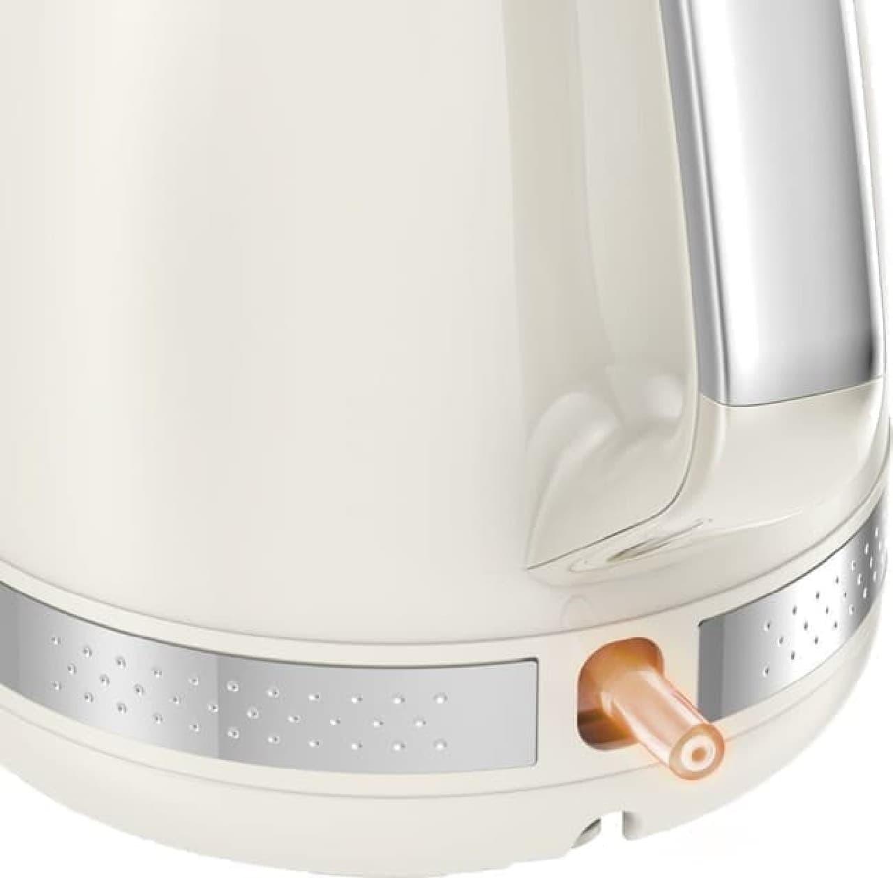 レトロな電気ケトル「マチネ 1.0L」がティファールから -- 素早く沸かせて空焚き防止機能も