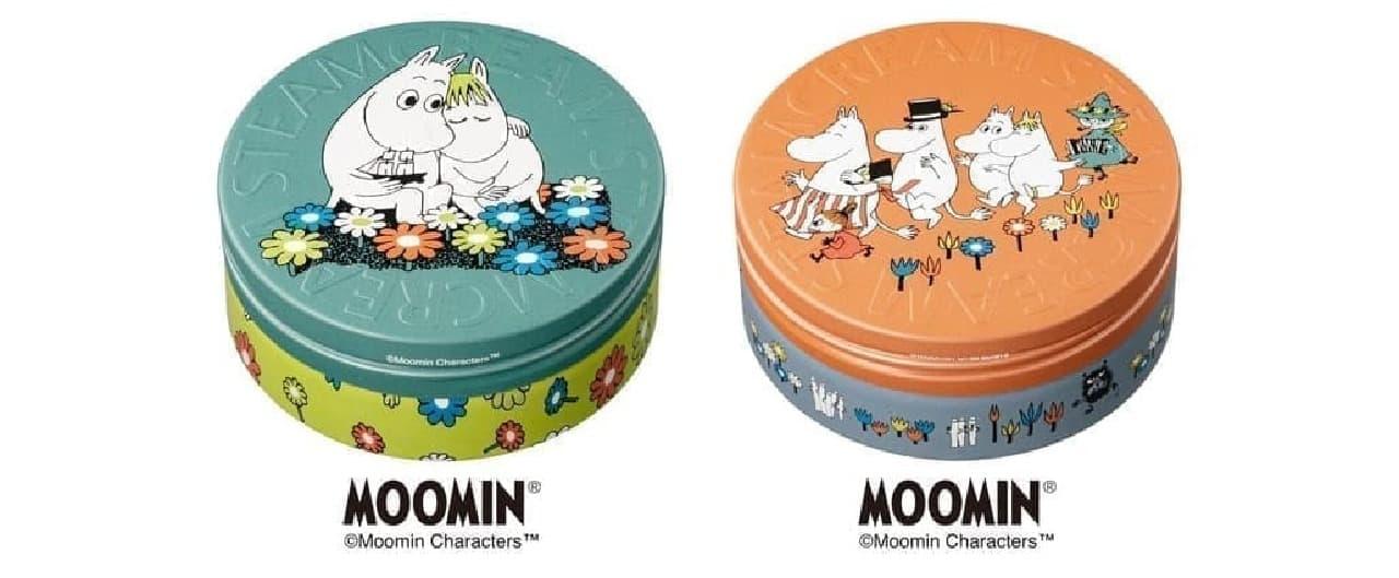 「スチームクリーム」のムーミンデザイン缶
