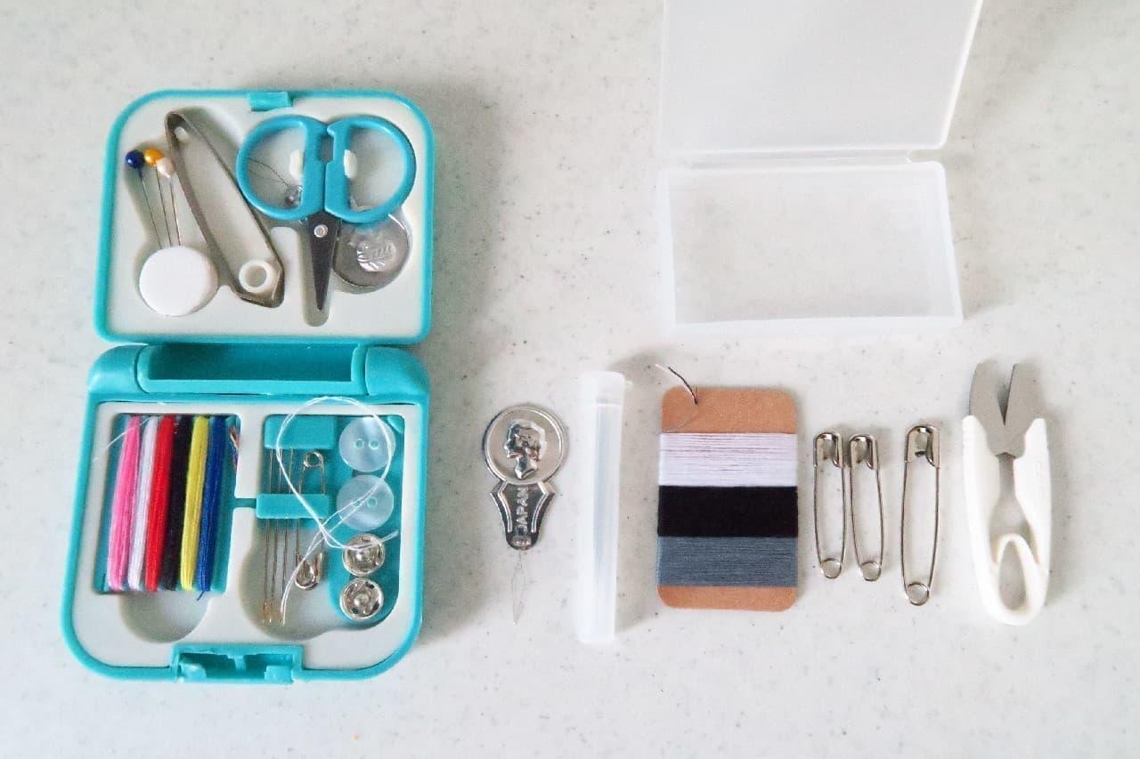 ボタン付けの相棒に!無印「携帯用ソーイングセット」 -- 小さいけど必要十分な裁縫道具