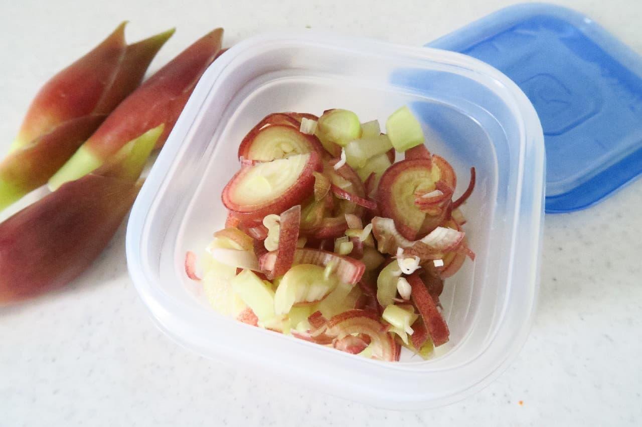 炊き立てご飯や汁物にプラス!みょうがの冷凍保存法 -- 爽やかな風味をいつでも手軽に