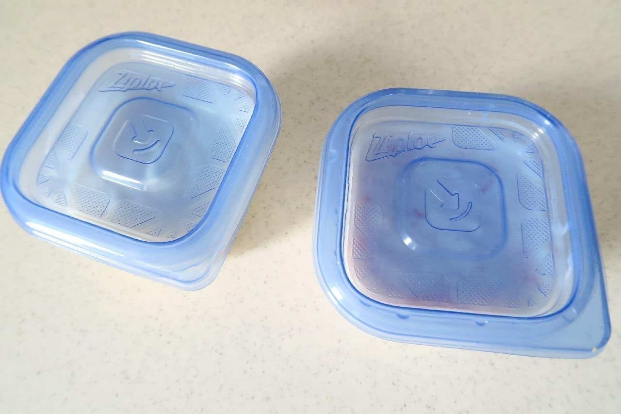 ステップ2ジャムやはちみつをプラス♪ ヨーグルトの冷凍保存法 -- シャーベットやスムージーにしても美味しい