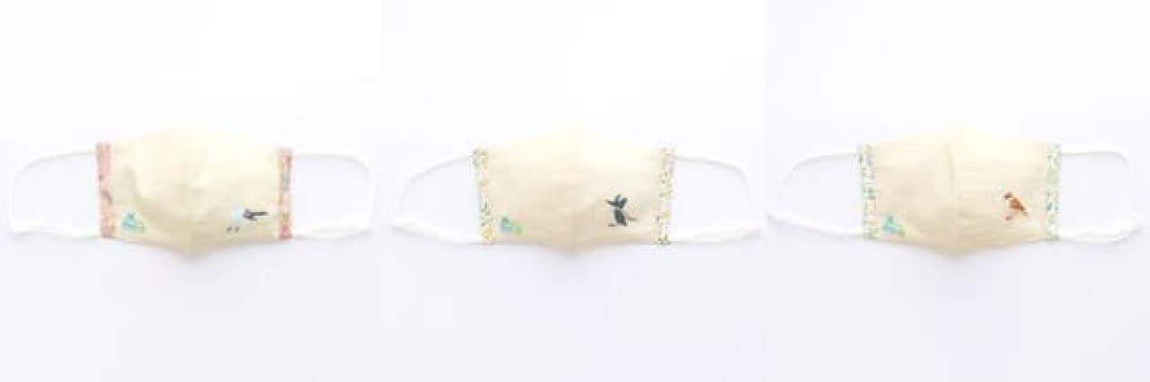 可愛い野鳥をデザインした布マスクがフェリシモに -- コマドリやシマエナガなど6種類