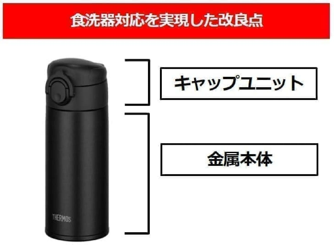 食器洗浄機で全部品を洗える「サーモス 真空断熱ケータイマグ(JOK-350/500)」