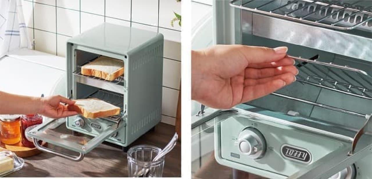 人気の2段式「Toffyオーブントースター」がリニューアル -- よりスリムに&機能はアップ