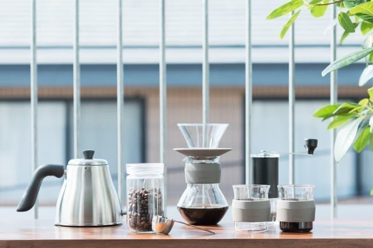 シンプルで美しいコーヒーグッズ「Glacoシリーズ」がKEYUCAから -- フラスコやビーカーがヒントに