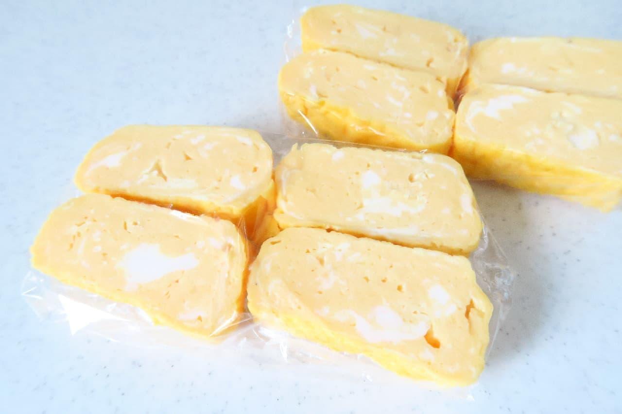 卵焼きの冷凍保存法