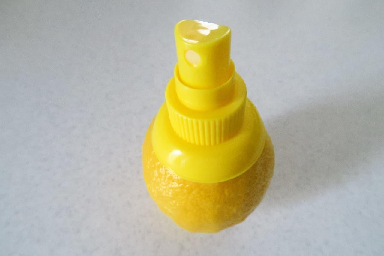 ダイソーのキッチンアイテム「レモンスプレー」