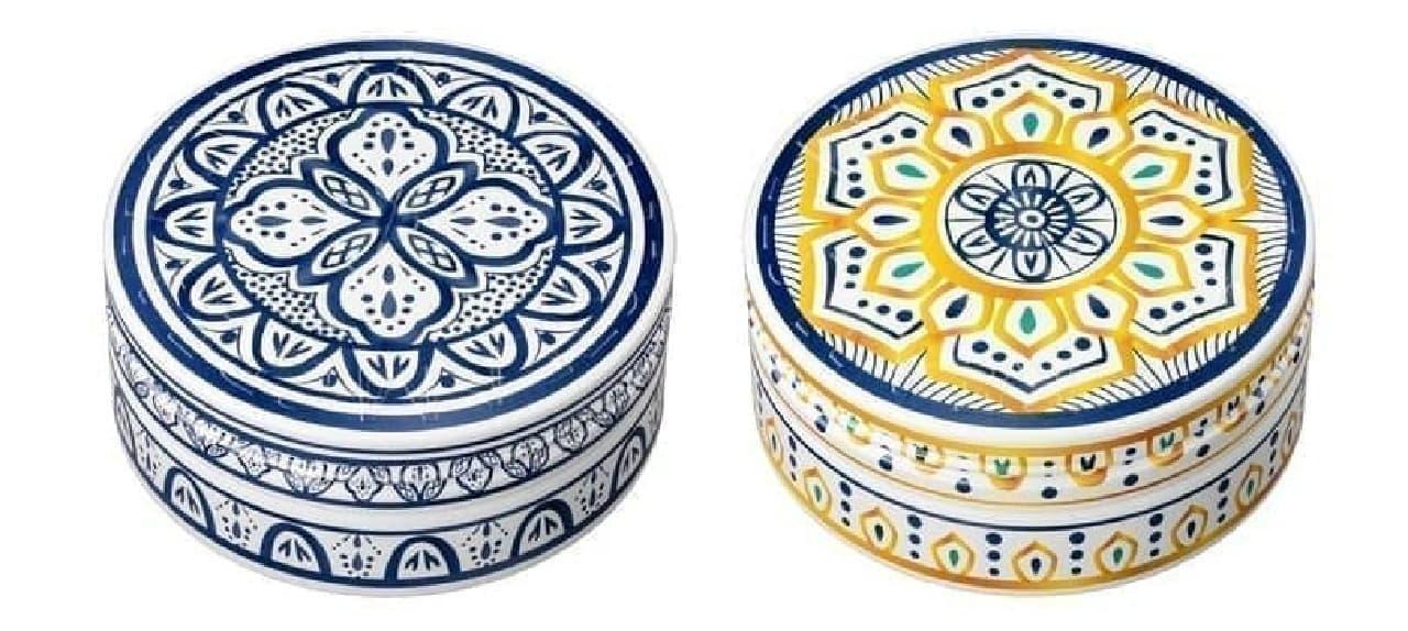 「スチームクリーム」のモロッコ陶器デザイン缶
