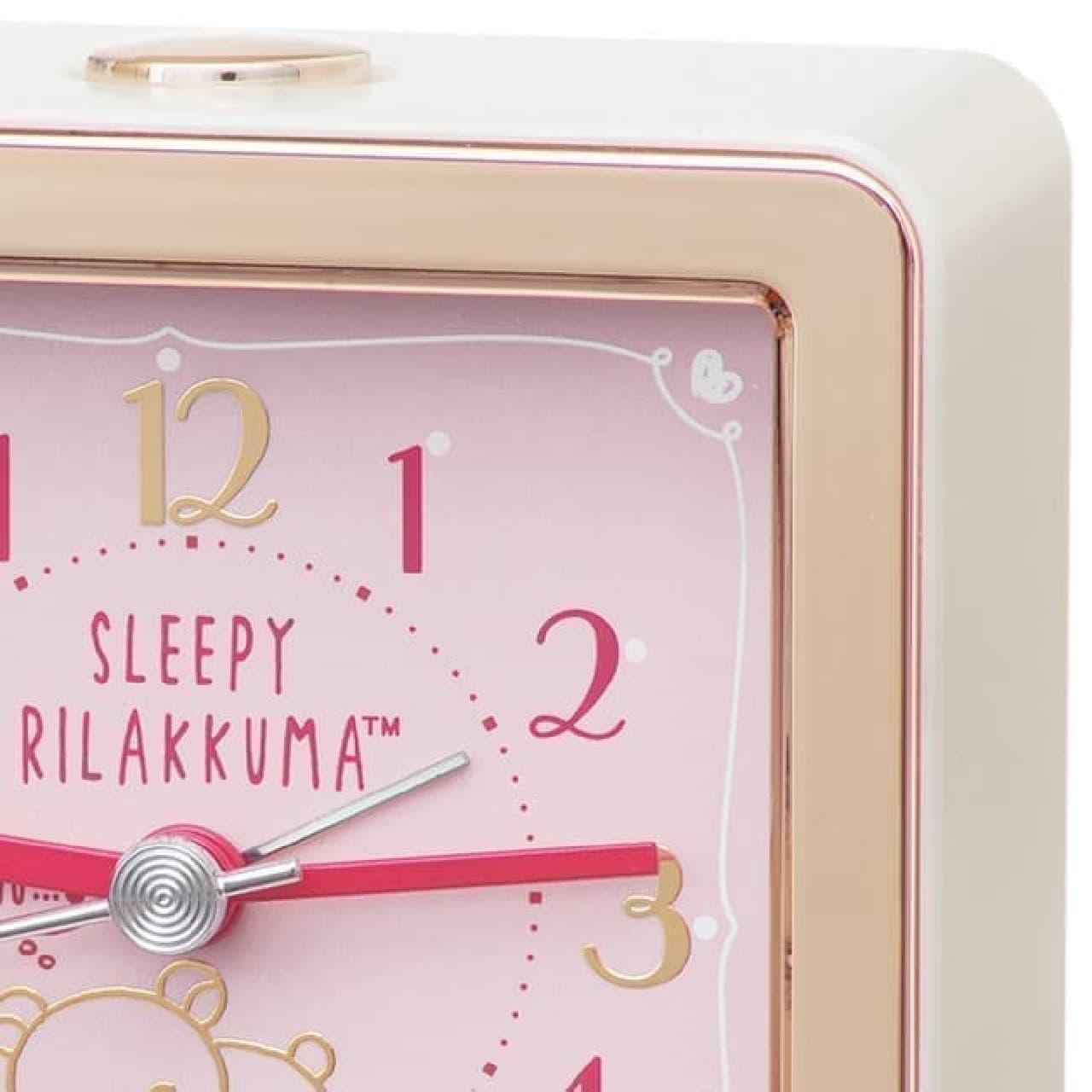 セイコークロックから、リラックマをデザインした目ざまし時計の新作「CQ161P」
