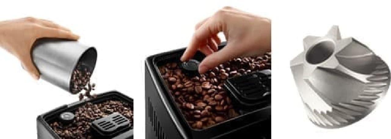 デロンギ ディナミカ 全自動コーヒーマシン(ECAM35055B)