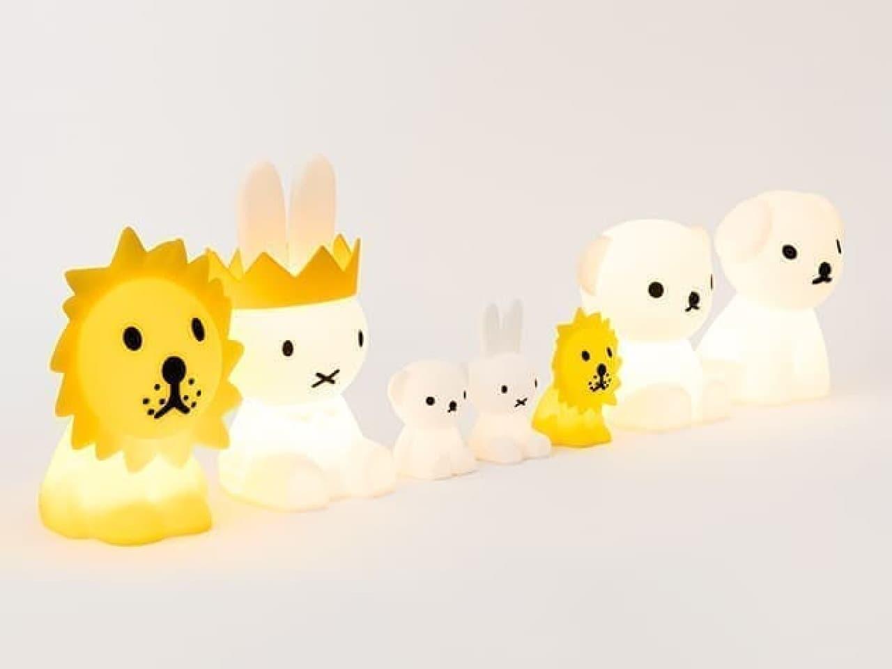 ミッフィーのインテリア照明