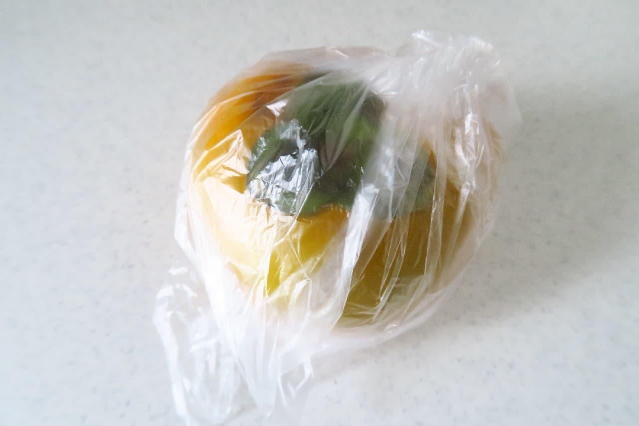 乾燥に注意!柿の冷蔵保存法 -- ヘタを濡らしてシャキシャキ感長持ち