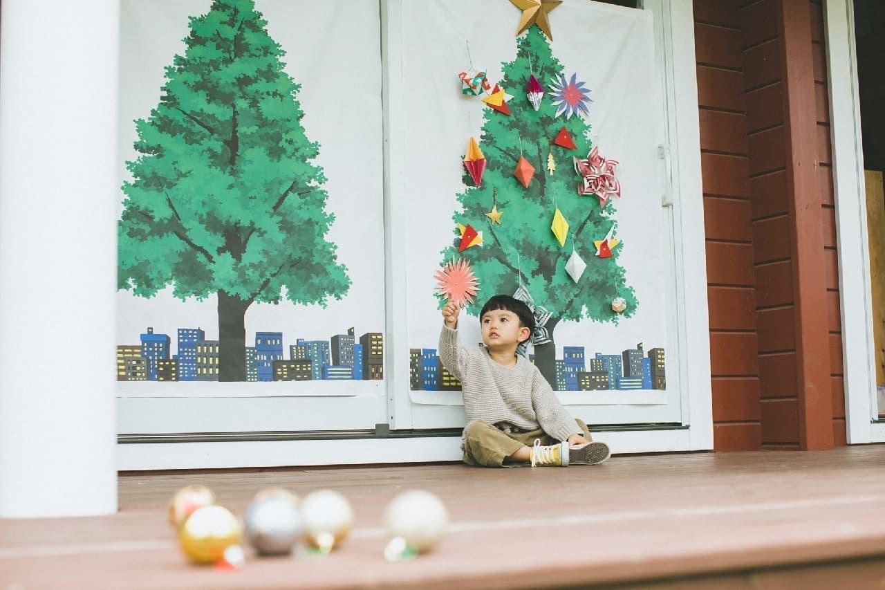「nunocoto fabric」クリスマスツリータペストリー