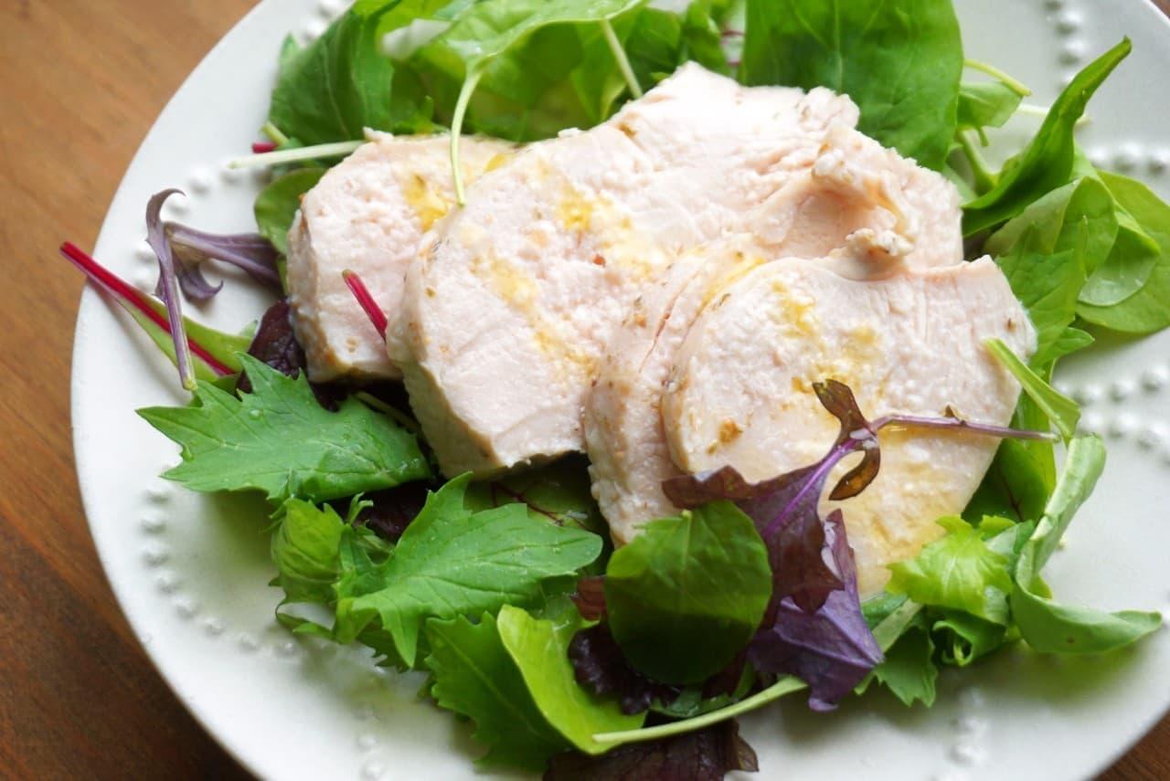 鶏むね肉のサラダチキンレシピ