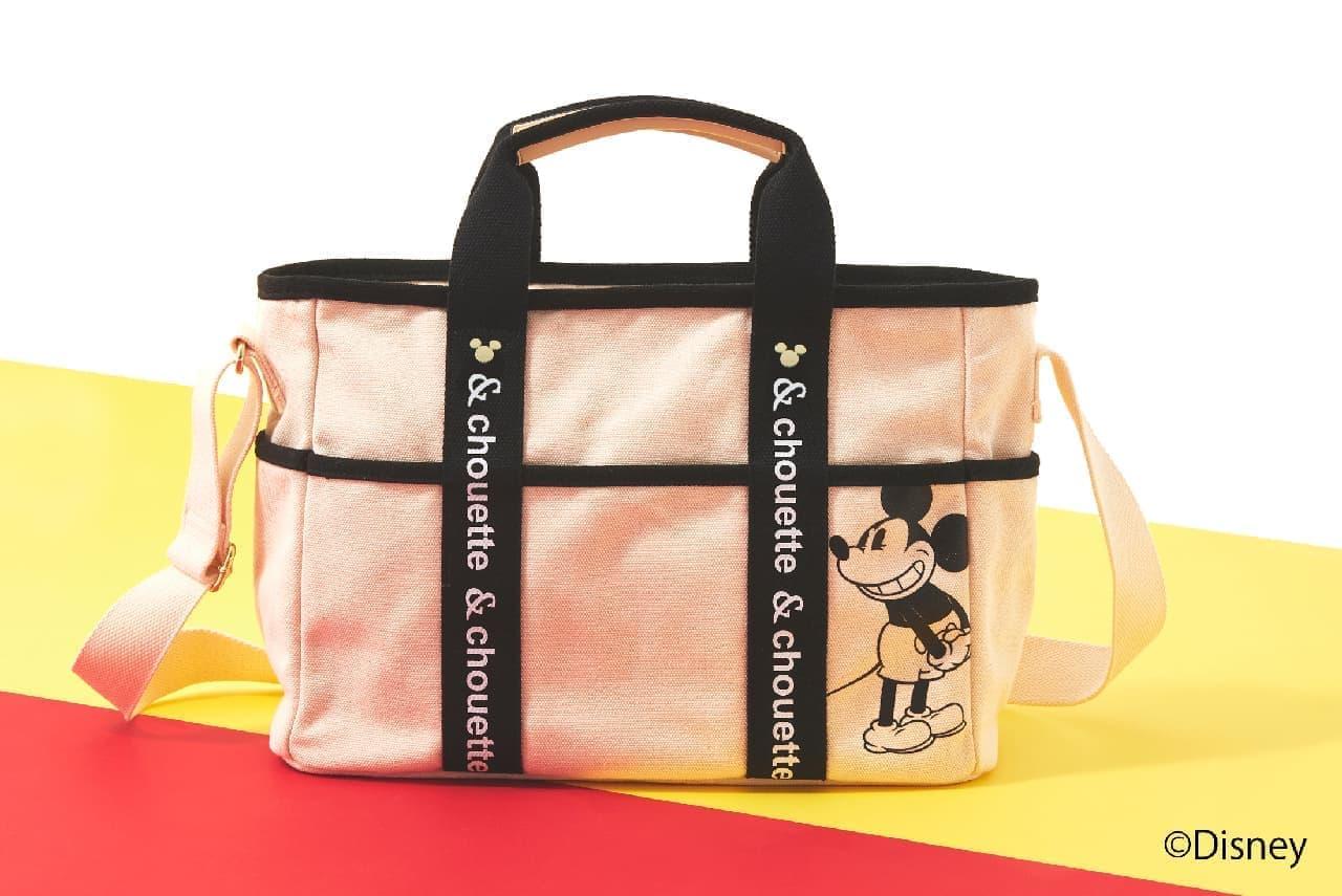 カードケース付きミッキーショルダーバッグとミッキーキャンバストートバッグが& シュエットから