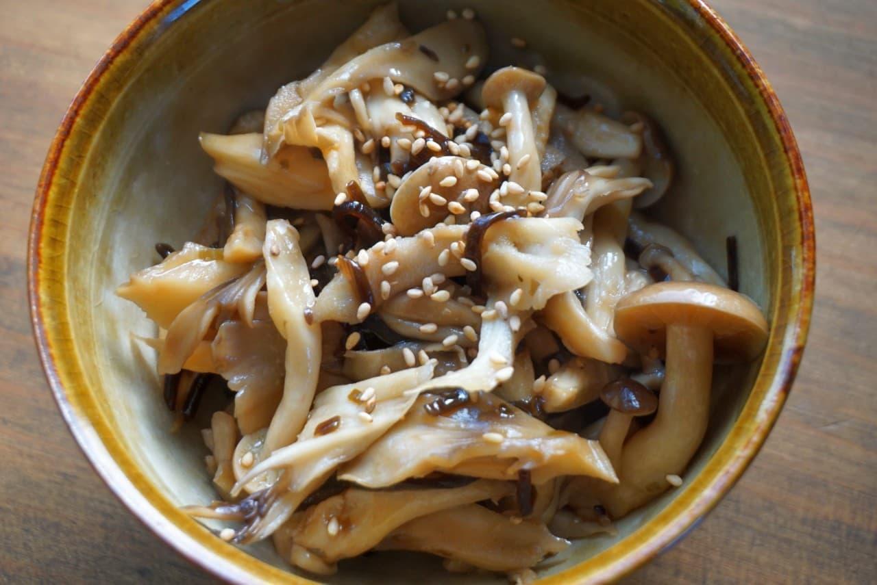 舞茸の塩昆布和えレシピ