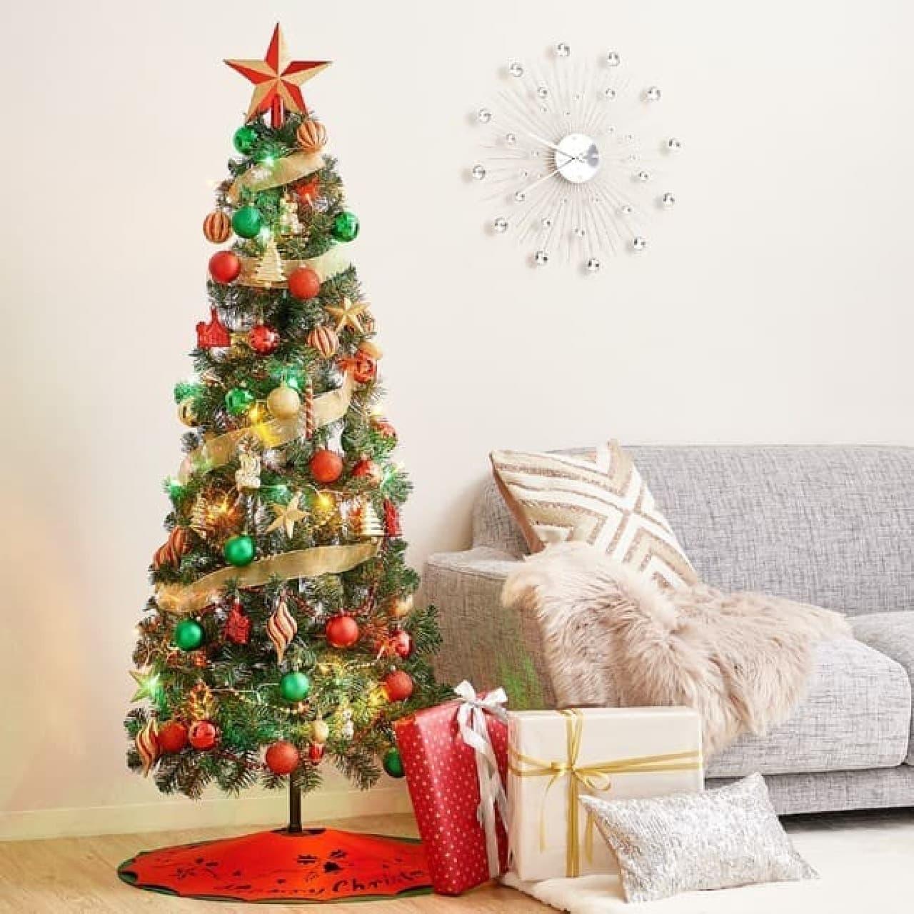 狭い部屋もOK!高さ60cmのクリスマスツリーがFrancfrancから -- 収納コンパクトなセット商品