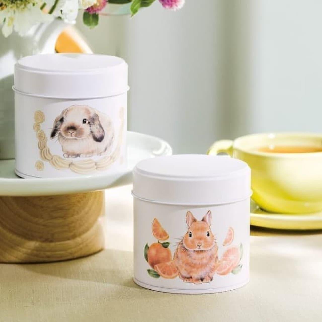 うさぎと楽しむティータイム♪ YOU+MORE!から可愛い缶入りのお茶 -- オレンジティーやバニラ&クリームティーなど