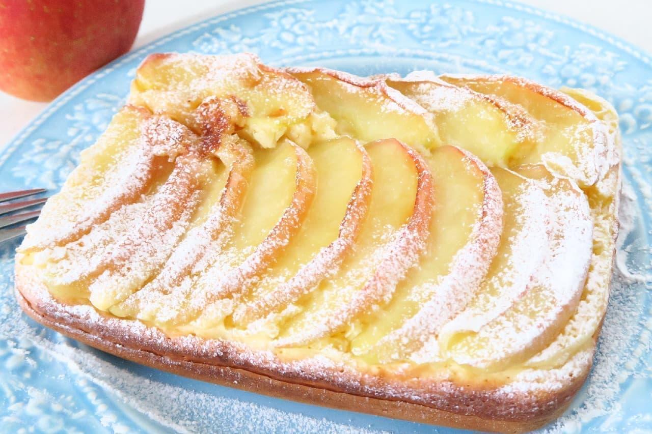 玉子焼き器でりんごのパンケーキ