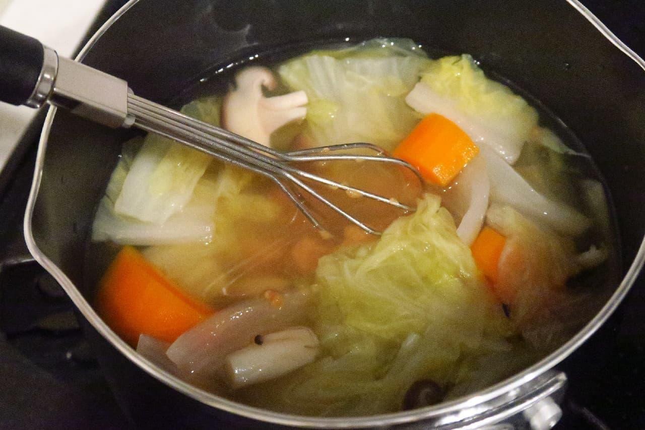 味噌汁づくりに便利♪ ニトリ「計量味噌マドラー」 -- 味噌を簡単に計量&そのまま溶き混ぜ