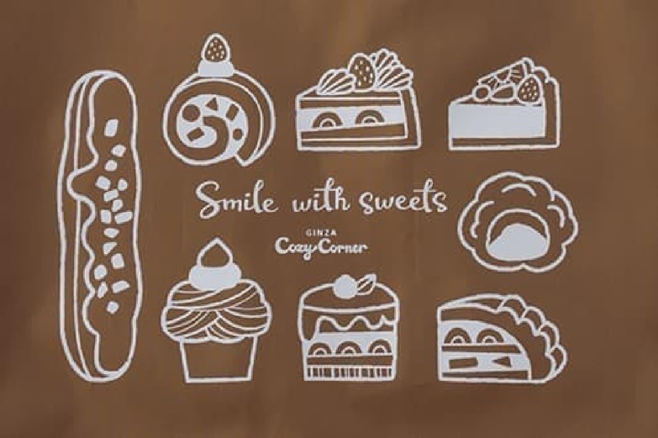 銀座コージーコーナーからオリジナルエコバッグ -- ケーキの持ち運びに&可愛いスイーツ柄つき
