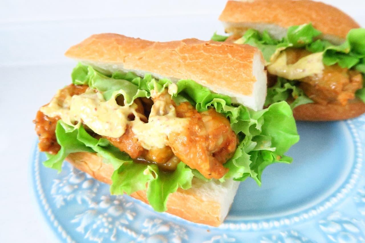 ヨーグルト40gで!タンドリーチキンの簡単レシピ -- 絶品サンドイッチにも