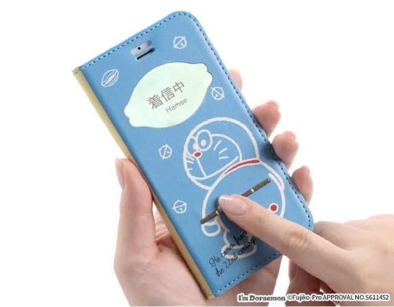 [iPhone 8/7/6s/6/SE(第2世代)専用]アイムドラえもん/フリップ窓付きダイアリーケース