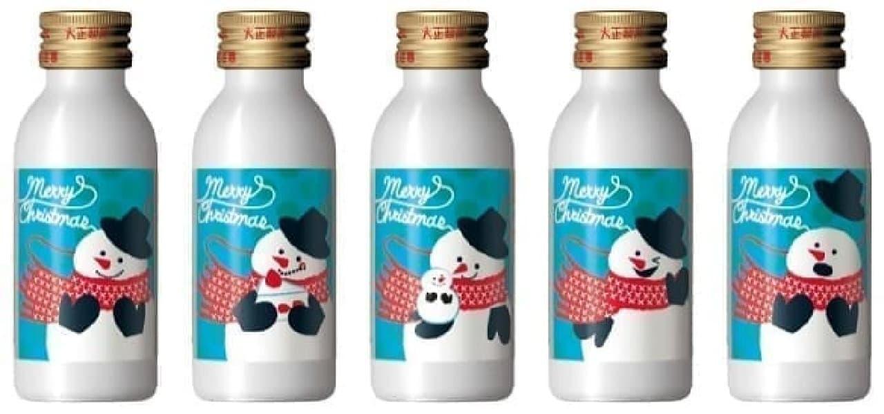 雪だるまが可愛い!「リポビタンD クリスマスボトル2020」登場 -- トナカイの柄も