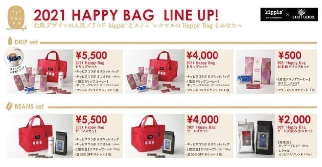 カフェ レクセルから福袋「Happy Bag」登場 -- 北欧デザイン「kippis」とコラボ