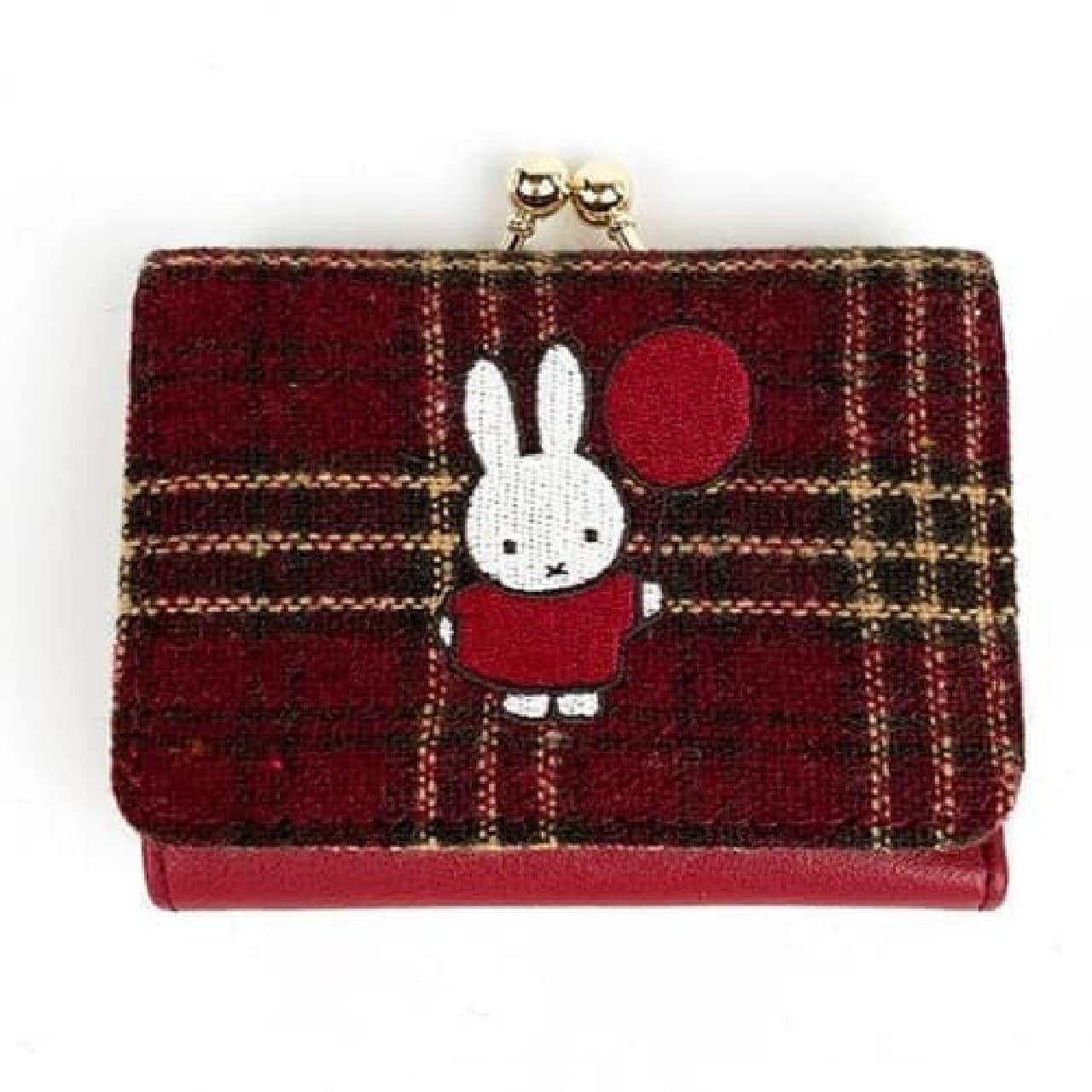 ミッフィー×タータンチェックが可愛いトートや財布 -- 秋冬らしい落ち着いた色味