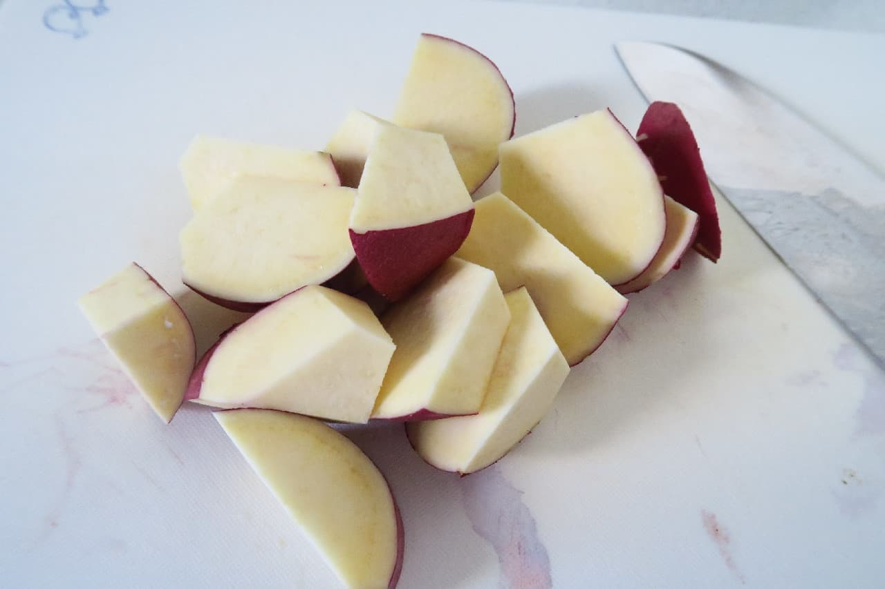 ゆであずきとサツマイモで作るいとこ煮