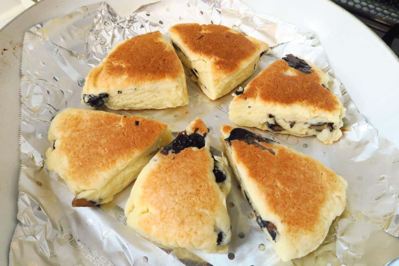 黒豆スコーンのレシピ -- ホットケーキミックス×フライパンで簡単