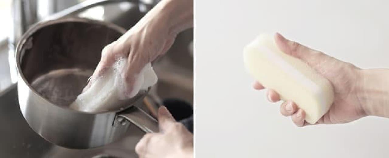 キッチン清掃道具「清潔謹製」シリーズ -- 使い心地を追求したブラシ&スポンジ