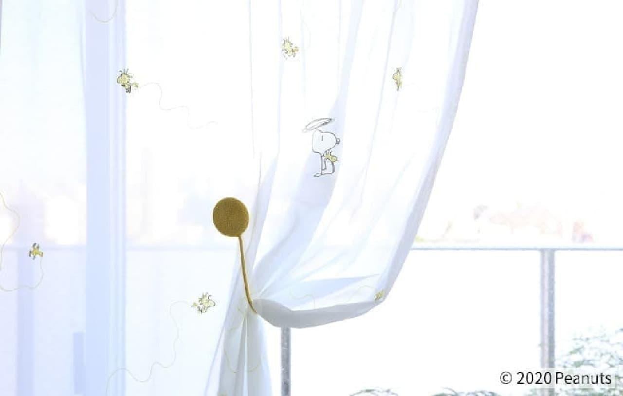スヌーピーのカーテン