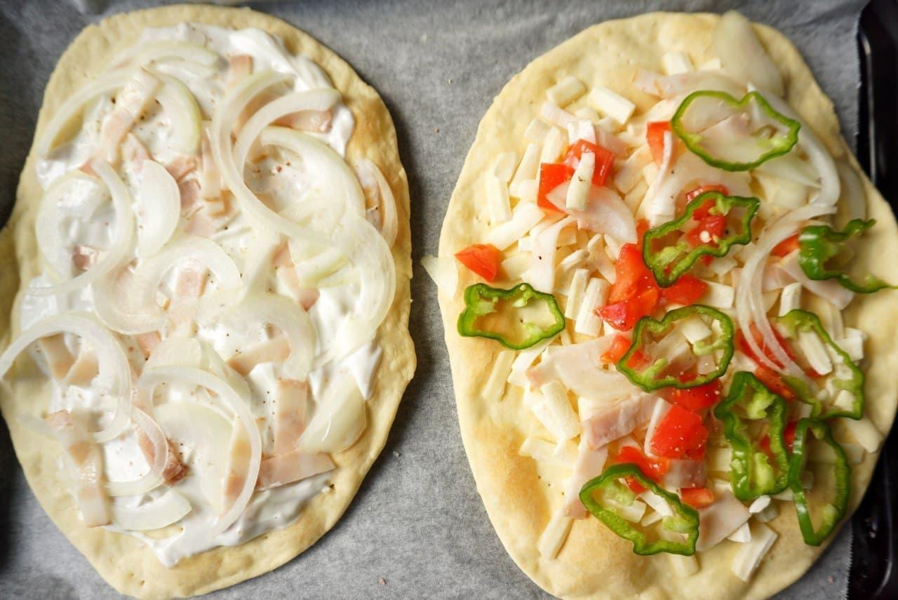 アルザス風ピザ「タルト・フランベ」