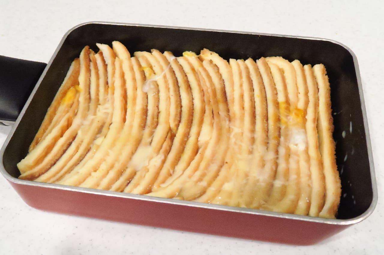 食パンの耳のフレンチトースト
